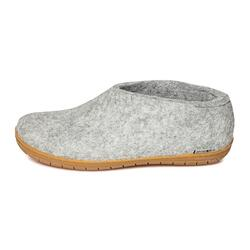 Glerups - felt shoe with rubber sole - light grey