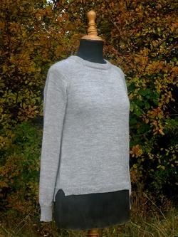 Top-down sweater. Raglan, England