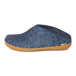 Glerups - felt slipper with rubber soles - denim