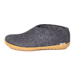 Glerups - felt shoe with rubber sole - dark grey