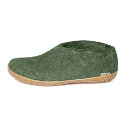 Glerups felt shoe with rubber sole - forest