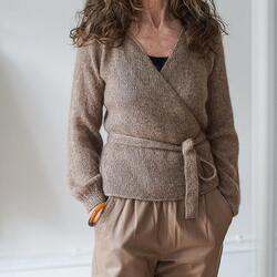 Refined Knitwear Nigrum Wrap Mohair Only KIT