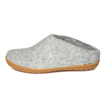 Glerups - felt slipper with rubber soles - light grey