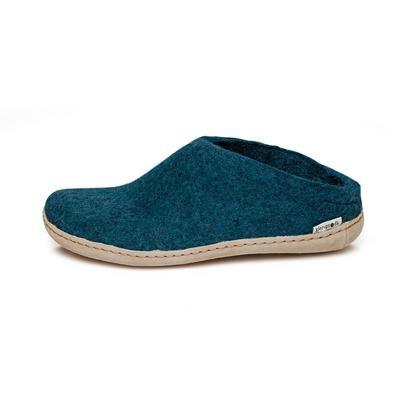 Glerups - felt slipper - teal