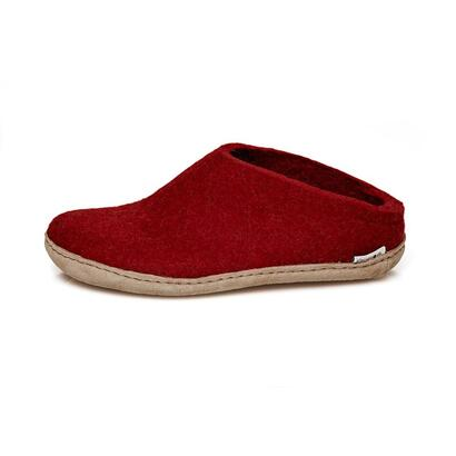 Glerups - felt slipper - red
