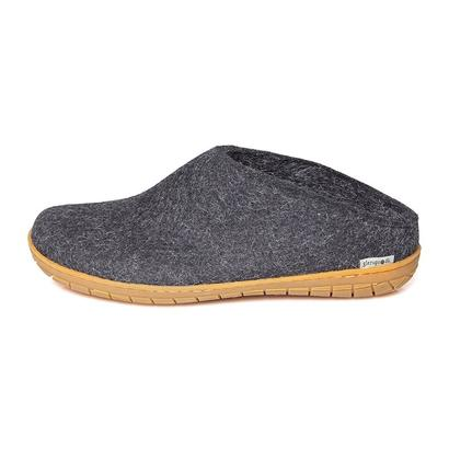 Glerups - felt slipper with rubber soles - dark grey