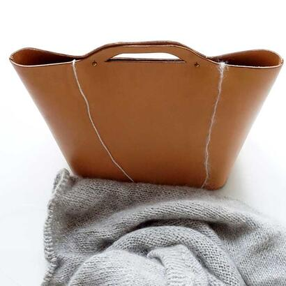 Geo-Metry Leather tote