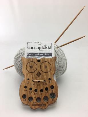 Succaplokki needle gauge Owl wood