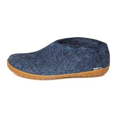 Glerups felt shoe with rubber sole - denim