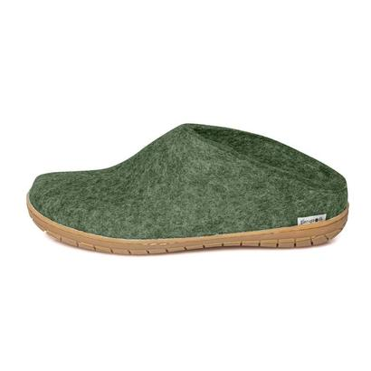 Glerups - felt slipper with rubber soles - forest
