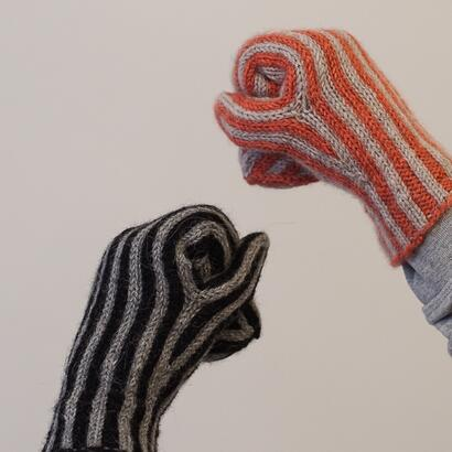 TRS Striped Mittens