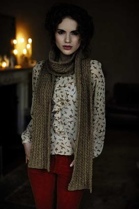 Belle Cable Scarf - Winter Warmers