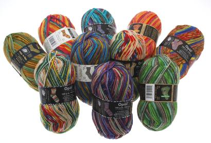 10 skeins of mixed Opal - up to 36% discount