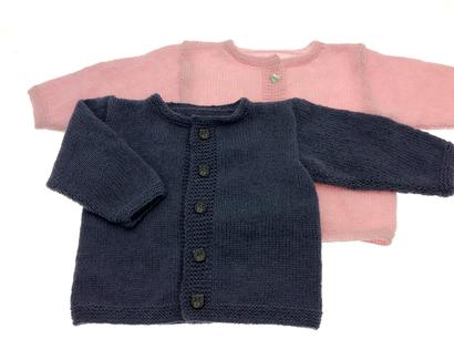 Gepard Babycardigan, nem at strikke.